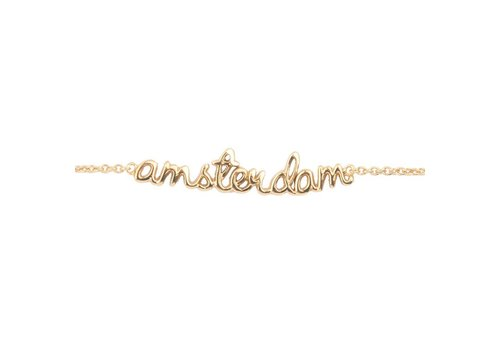 All the luck in the world Armband Amsterdam goud