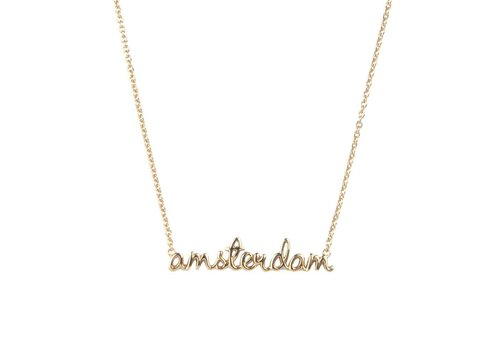 All the Luck in the World Urban Goldplated Necklace Amsterdam