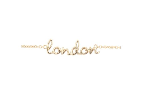 All the luck in the world Armband London goud