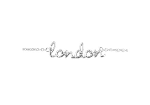 All the Luck in the World Armband London zilver