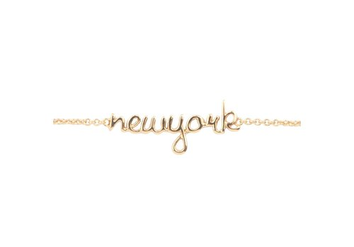 All the luck in the world Armband New York goud