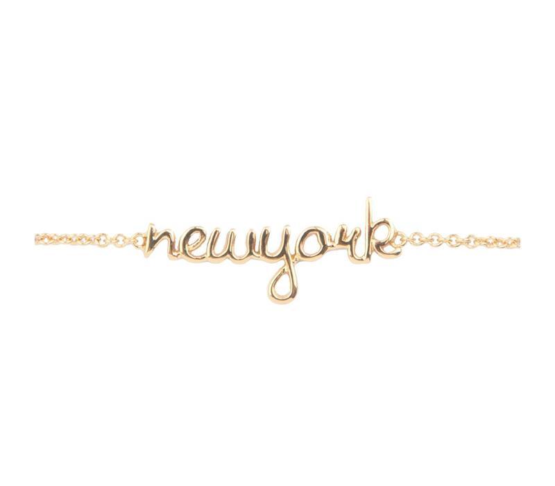 Armband New York verguld