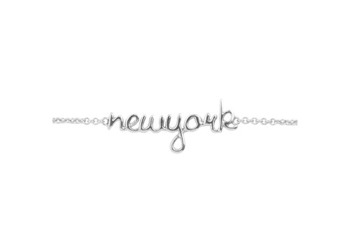 All the Luck in the World Armband New York zilver
