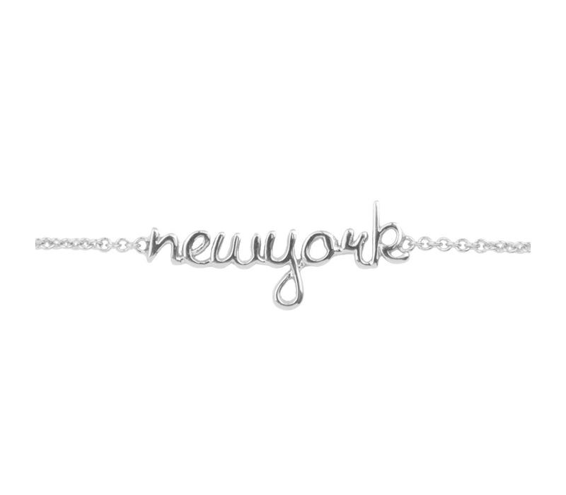 Urban Silverplated Armband New York