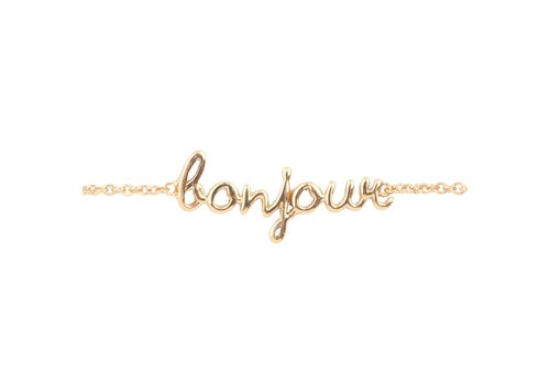 All the Luck in the World Urban Goldplated Armband Bonjour