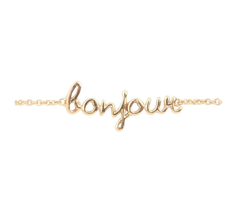 Bracelet Bonjour gold