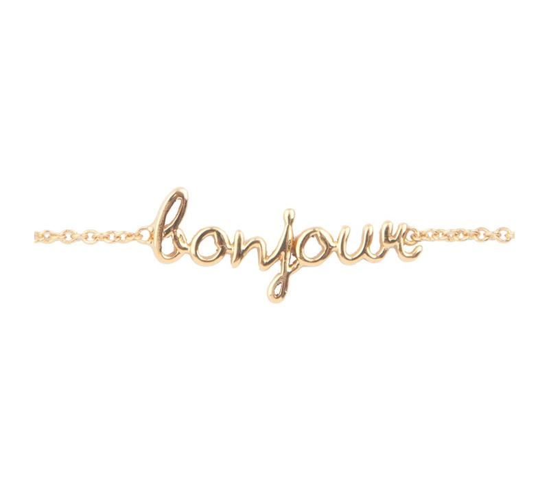 Bracelet Bonjour plated