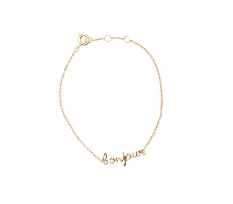 Urban Goldplated Bracelet Bonjour