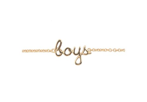 All the luck in the world Armband Boys 18K goud