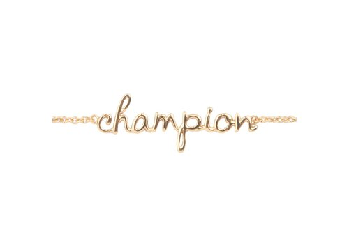 All the luck in the world Armband Champion goud
