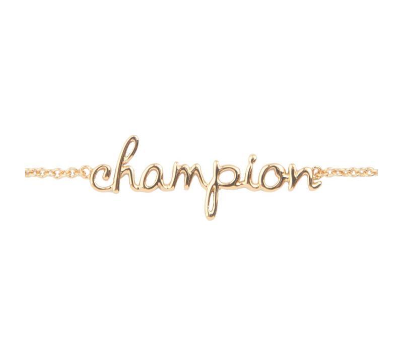 Armband Champion verguld