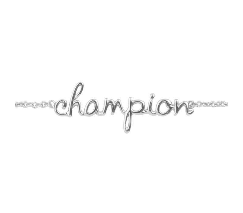 Armband Champion zilver