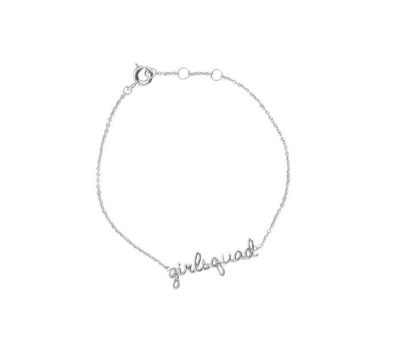Armband Girlsquad zilver