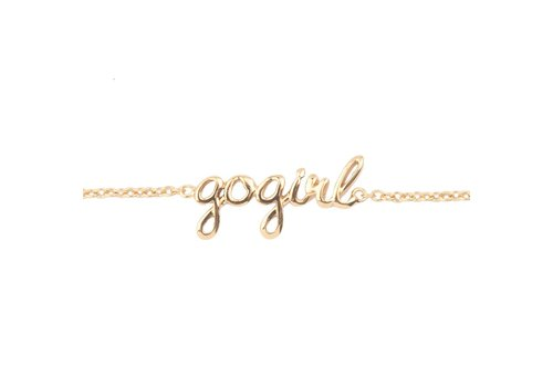 All the luck in the world Armband Gogirl goud