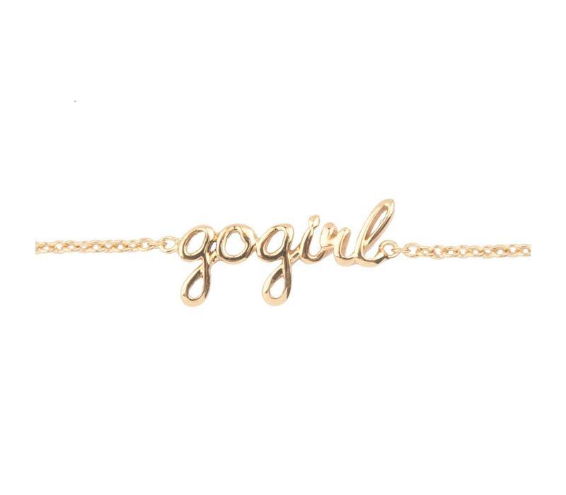 Armband Gogirl goud