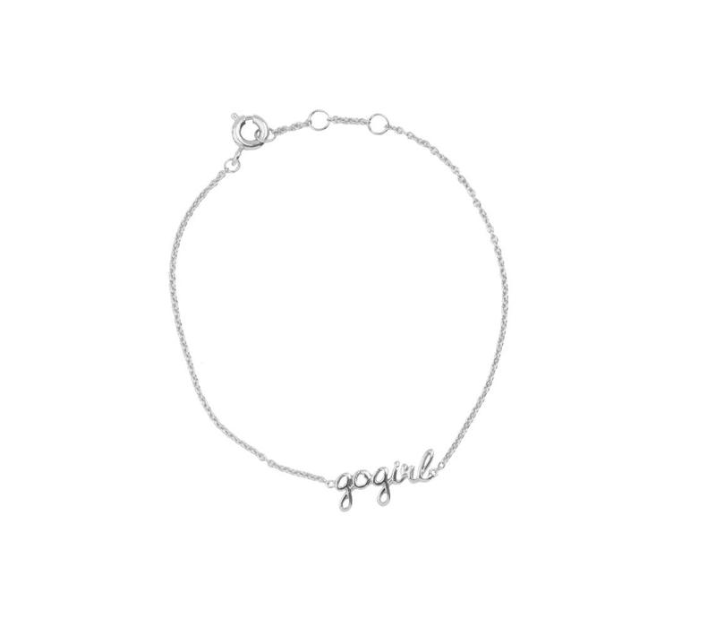 Armband Gogirl zilver
