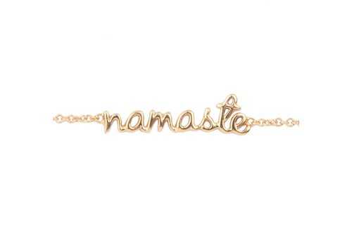 All the Luck in the World Bracelet Namaste gold