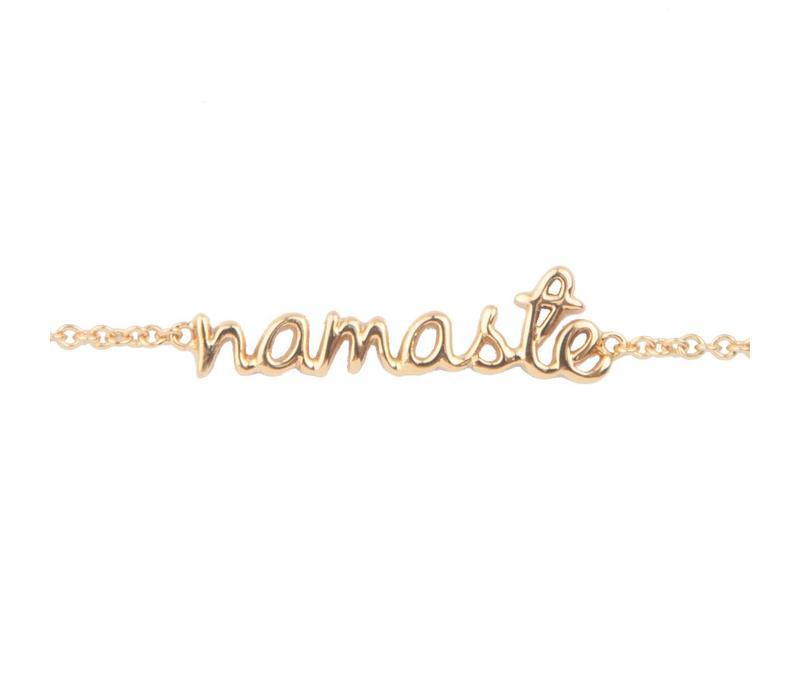 Urban Goldplated Armband Namaste
