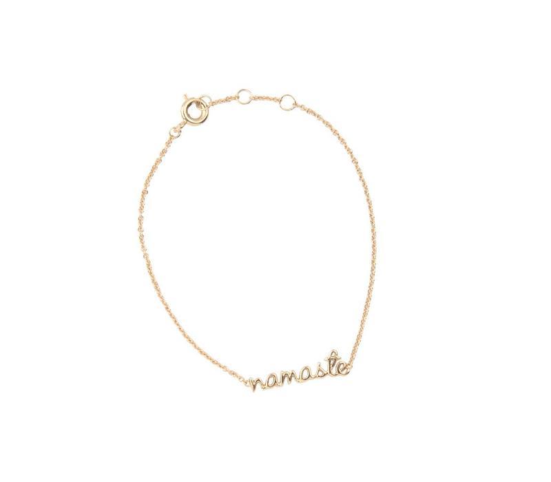 Armband Namaste goud