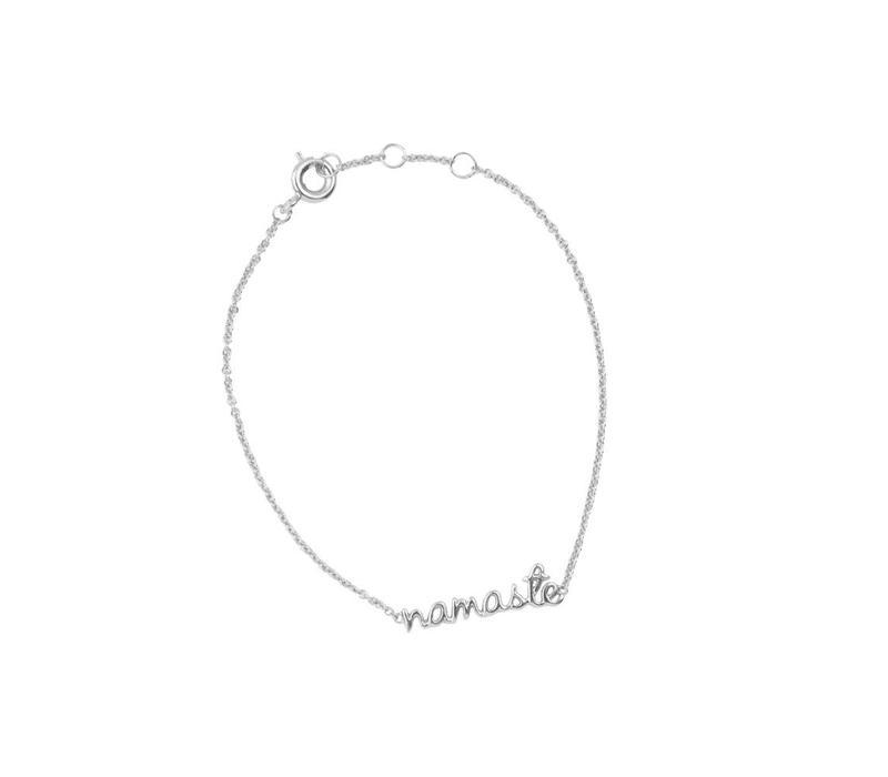 Armband Namaste zilver