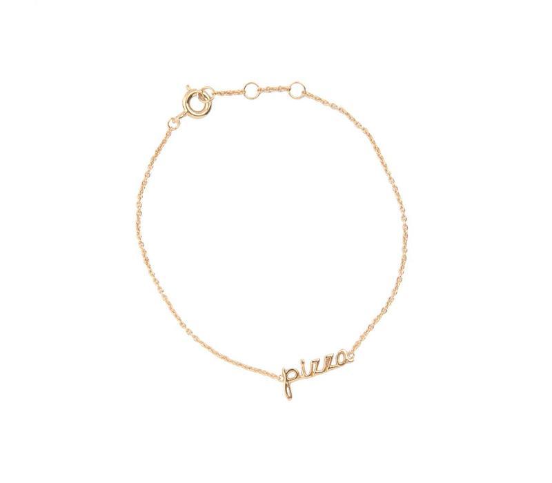 Urban Goldplated Bracelet Pizza