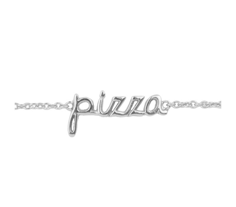 Armband Pizza zilver