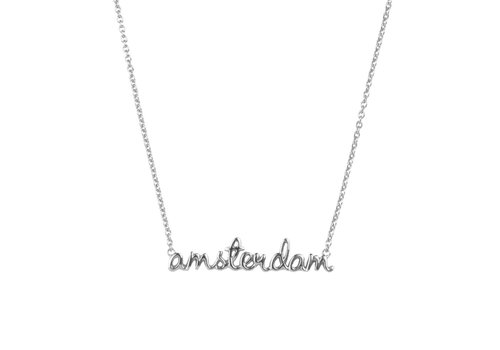 All the Luck in the World Urban Silverplated Necklace Amsterdam