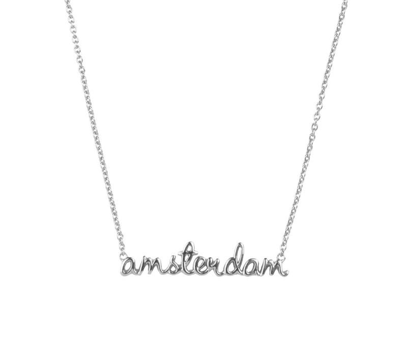 Urban Silverplated Necklace Amsterdam