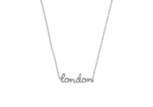 All the Luck in the World Urban Silverplated Necklace London