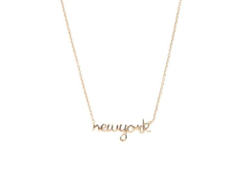All the luck in the world Ketting New York goud