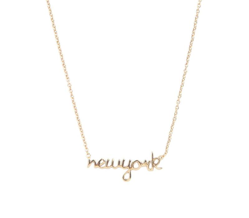 Necklace New York gold