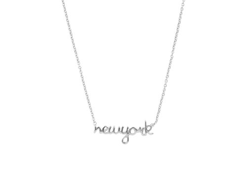 All the Luck in the World Urban Silverplated Necklace New York