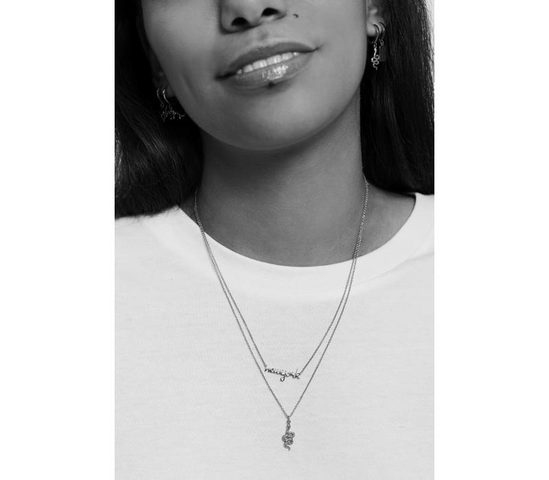 Urban Silverplated Necklace New York