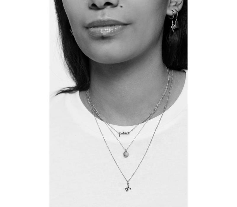 Urban Silverplated Necklace Paris