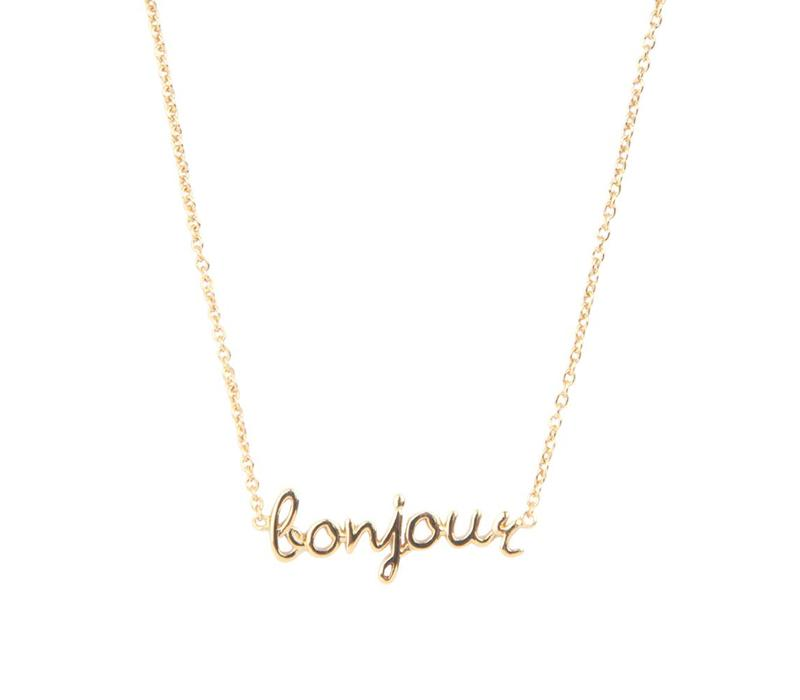 Necklace Bonjour plated