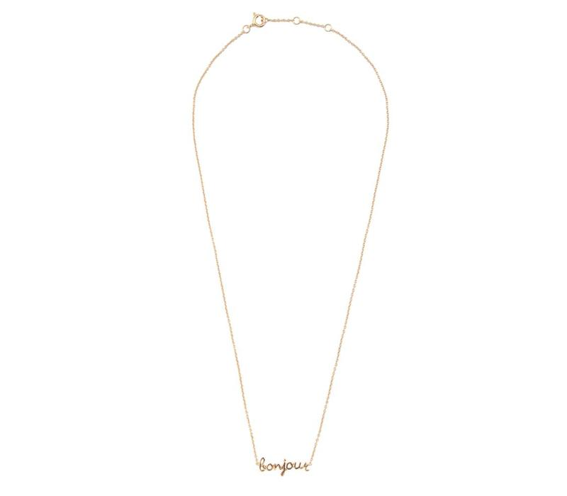 Necklace Bonjour gold