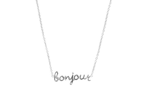 All the Luck in the World Urban Silverplated Ketting Bonjour