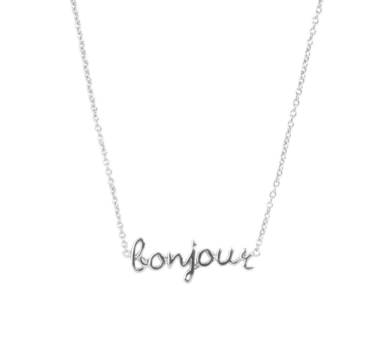 Urban Silverplated Necklace Bonjour
