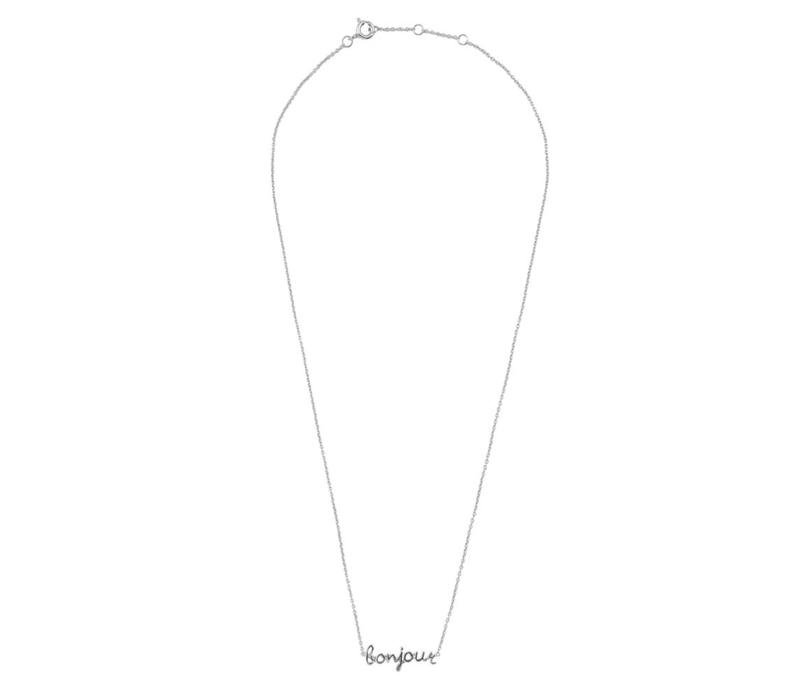 Urban Silverplated Ketting Bonjour