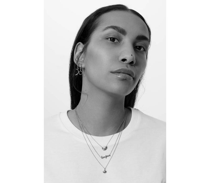 Necklace Bonjour silver