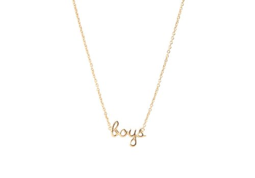All the Luck in the World Ketting Boys 18K goud