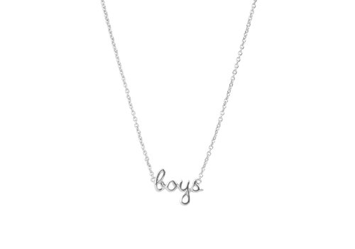 All the Luck in the World Ketting Boys zilver