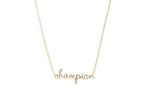 All the Luck in the World Urban Goldplated Necklace Champion