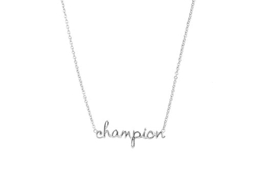 All the Luck in the World Necklace Champion silver