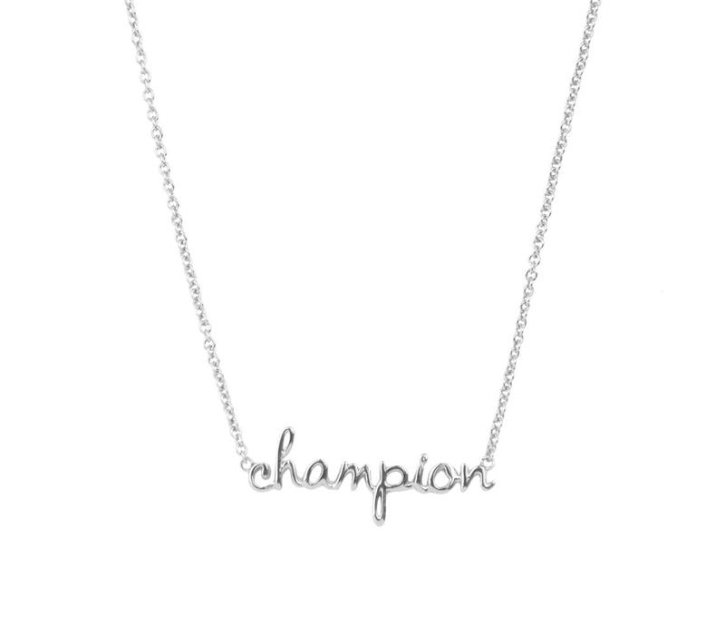 Ketting Champion zilver