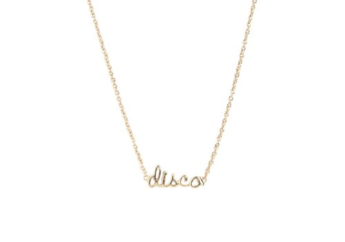 All the Luck in the World Necklace Disco gold