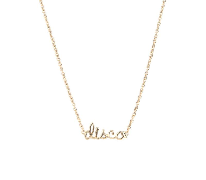 Necklace Disco gold