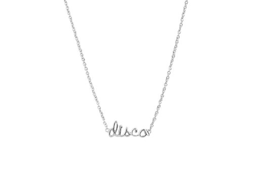 All the Luck in the World Urban Silverplated Necklace Disco