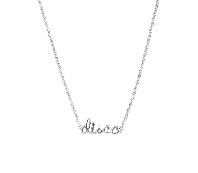 Necklace Disco silver