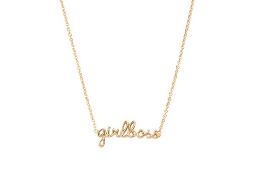 All the luck in the world Ketting Girlboss goud
